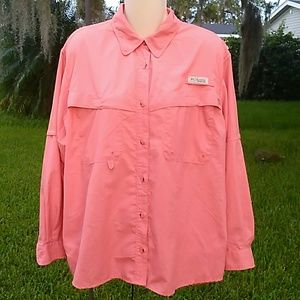 "Columbia Ladies PFG Button Down ""Lollipop"""